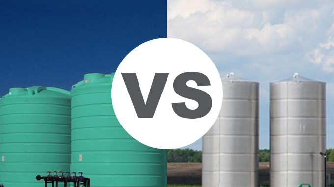 plastic water tanks vs steel water tanks