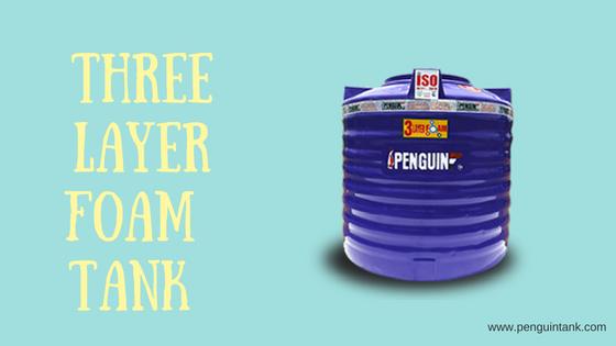 The three-layer foam water tank